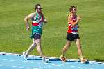 Wayne powering along in the 2000 metre Walk