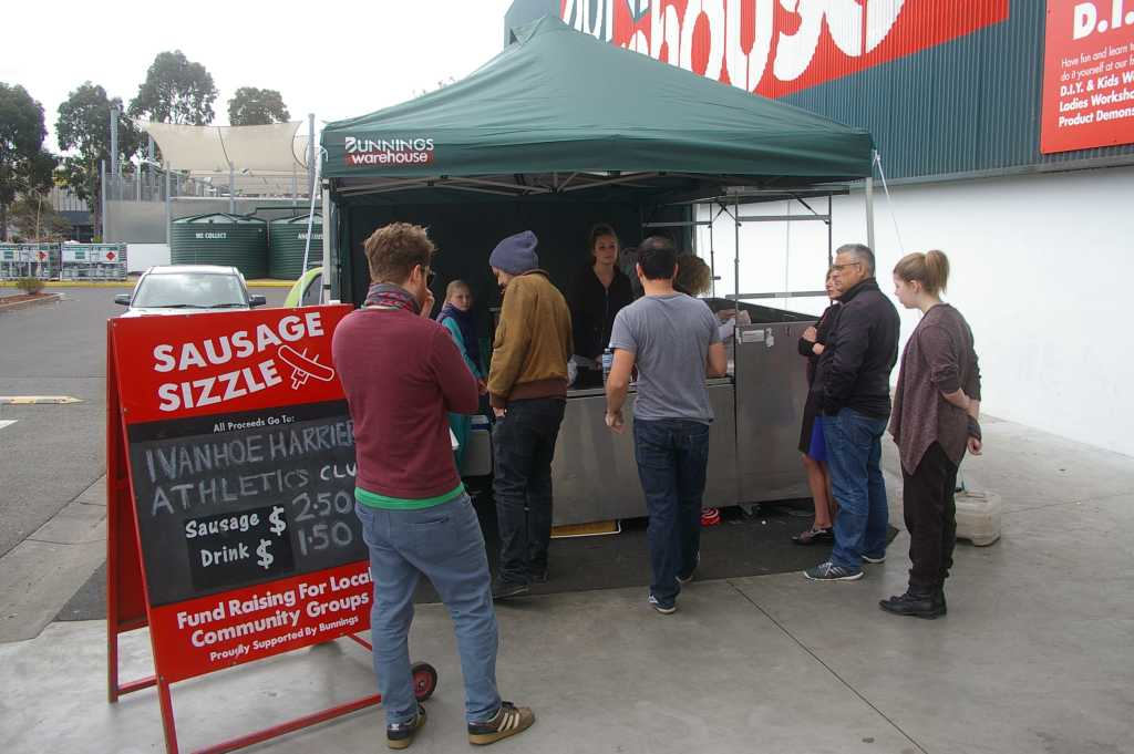 There were plenty of customers all day buying delicious sausages