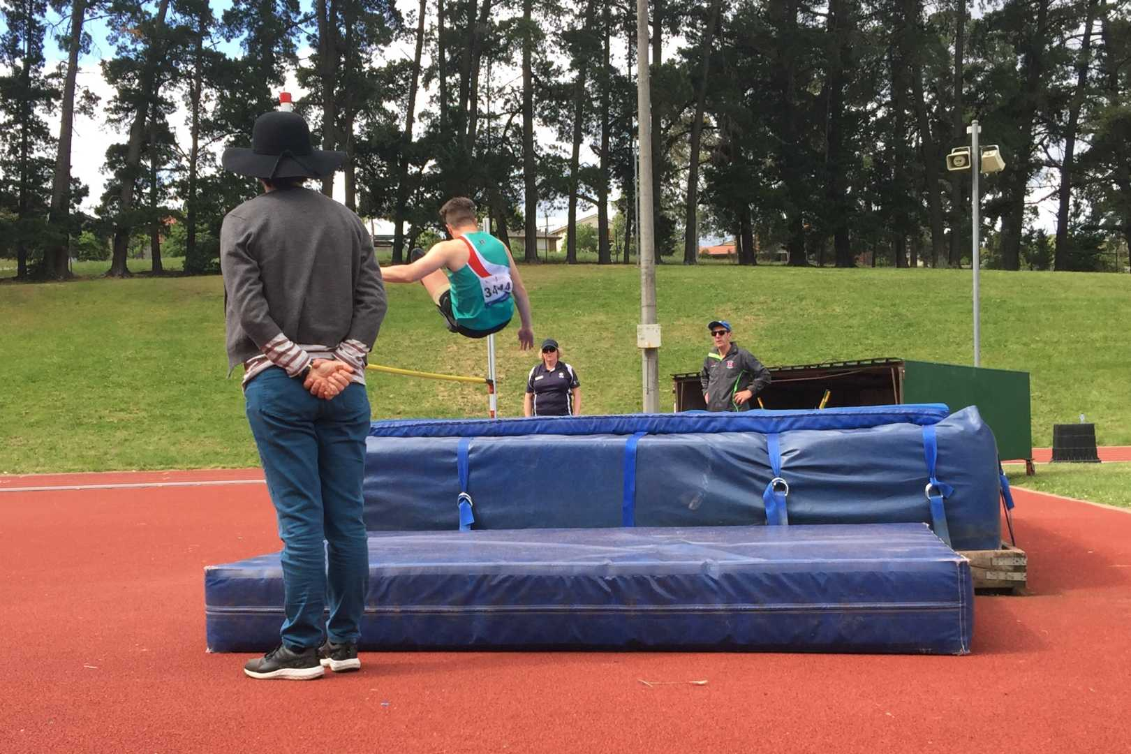 Phil with a big leap in the High Jump