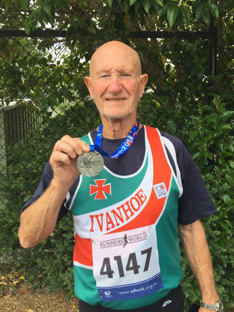 Tom with one of his World Masters 2016 silver medals
