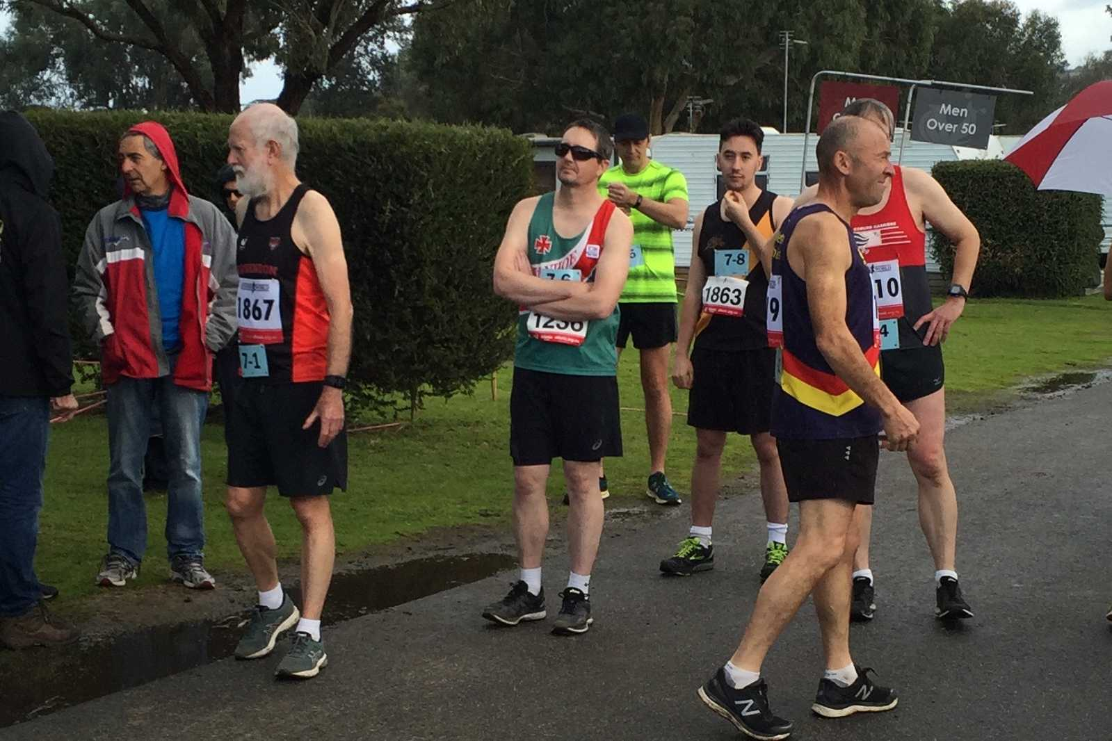Chris looking relaxed at the Division 7 start line